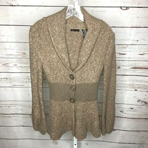 INC International Concepts button front sweater S